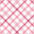 Le rose barre le plaid Photographie stock