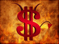 Le signe du dollar de diable Images stock