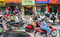 Le trafic de rue du vietnam Photos stock