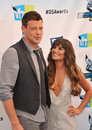Lea michele cory monteith at the do something awards at barker hangar santa monica airport august santa monica ca picture paul Royalty Free Stock Photo