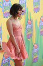 Lea michele los angeles ca march glee star at nickelodeon s th annual kids choice awards at the galen centre los angeles Stock Photography