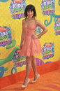 Lea michele los angeles ca march glee star at nickelodeon s th annual kids choice awards at the galen centre los angeles Stock Images