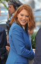 Lea seydoux cannes france may at photo call for her movie saint laurent at the th festival de cannes Stock Photography