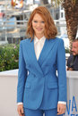Lea seydoux cannes france may at photo call for her movie saint laurent at the th festival de cannes Royalty Free Stock Photo