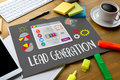 LEAD GENERATION Lead Generation Business Funnel , Sales funnel, Royalty Free Stock Photo