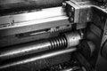 Lead move the caliper of the machine tool