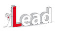 Lead word in a d style with karen the businesswoman ideal for a title it illustrates the concept of the Royalty Free Stock Photos