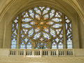 Leaded panes in catholic cathedral Royalty Free Stock Images