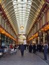 Leadenhall market london england february in london on february medieval corridors of in london england Royalty Free Stock Image