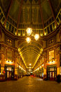 Leadenhall market london march night shot of bankers drinking beer after work in the covered one of the tourist attractions in Royalty Free Stock Photo