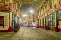 Leadenhall market at night london uk march Royalty Free Stock Images