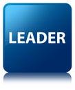 Leader blue square button