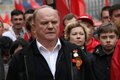 Leader of communist party of russia gennady zyuganov moscow may march communists on the victory day Stock Images