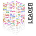 Leader concept illustration graphic tag collection wordcloud collage Stock Images