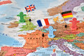 Leader countries Germany, France, UK, concept image Royalty Free Stock Photo