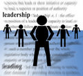 Leader and Followers Royalty Free Stock Images