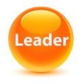 Leader glassy orange round button