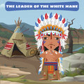 Leader Indian, camp in the wild landscape Royalty Free Stock Photo