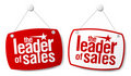 The leader of sales signs. Royalty Free Stock Image