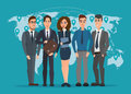 Leader and a team. Group of men and women politicians. Royalty Free Stock Photo