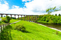 Leaderfoot viaduct over the river tweed near melrose scotland uk Stock Photography