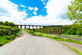 Leaderfoot viaduct over the river tweed near melrose scotland uk Stock Images