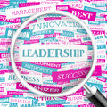 Leadership concept illustration graphic tag collection wordcloud collage Stock Image