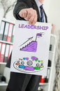 Leadership concept shown by a businessman