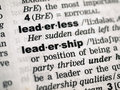 Leadership definition Royalty Free Stock Photo