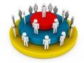 Leadership hierarchy Royalty Free Stock Photo