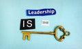 Leadership key Royalty Free Stock Photo