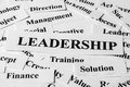 Leadership and other related words concept with some paper Royalty Free Stock Images