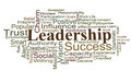 Leadership word cloud Royalty Free Stock Photos