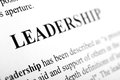 Leadership the word shot with artistic selective focus Stock Image