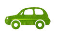 Leaf car green shape of cut out with isolated background Royalty Free Stock Image