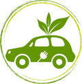 Leaf car illustration art of a with isolated background Stock Image