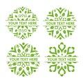 Leaf decorating logo set