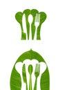 leaf emboss kitchen logo