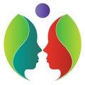 Leaf face logo