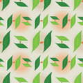 Leaf Foliage Seamless Pattern - Monogram Letter H Green and Beige Colors Royalty Free Stock Photo