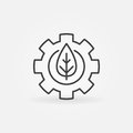 Leaf in gear outline icon