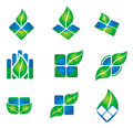 Leaf icon Stock Photography