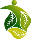 Leaf man logo Stock Photo