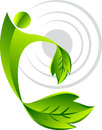 Leaf man logo Stock Images