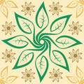 Leaf pattern seamless tile illustration of a Stock Images