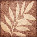 Leaf patterns on the fabric Royalty Free Stock Photo