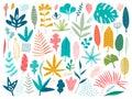 Leaf, nature symbol icon set of vector designs