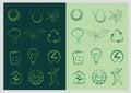 Leaf, Plant, Logo, Green, Ecology Set Vector