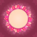 Leaf Round Pink Label Royalty Free Stock Images