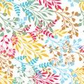 Leaf seamless pattern Royalty Free Stock Photo